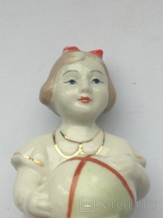 Девочка с мячиком Полонне ЗХК Клеймо 1950 -60 гг, фото №7