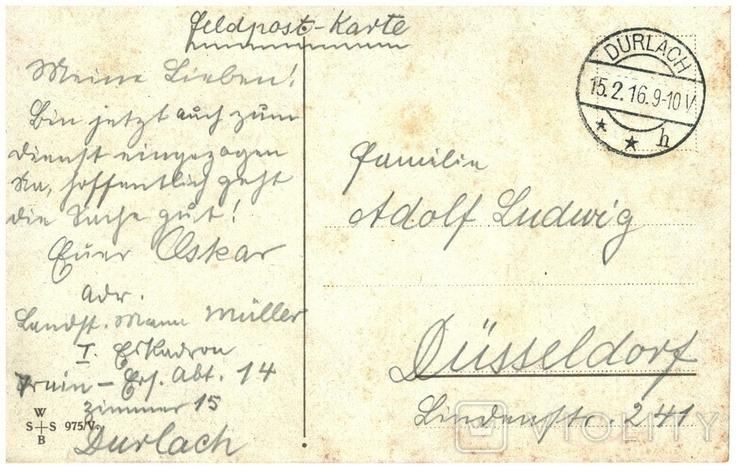 Открытка Не забывай меня 1916 год Первая мировая война Дюссельдорф Германия, фото №3