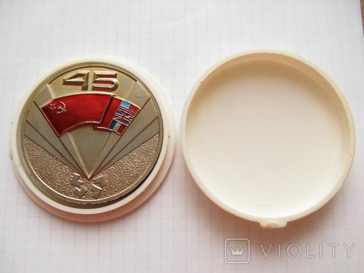 Настольная медаль. Завод АН. 45 лет Победы над Германией. Коалиция, фото №2