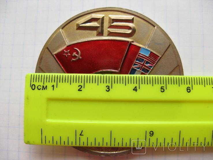 Настольная медаль. Завод АН. 45 лет Победы над Германией. Коалиция, фото №4