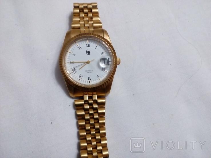 Часы GM в жёлтом корпусе с браслетом, фото №7