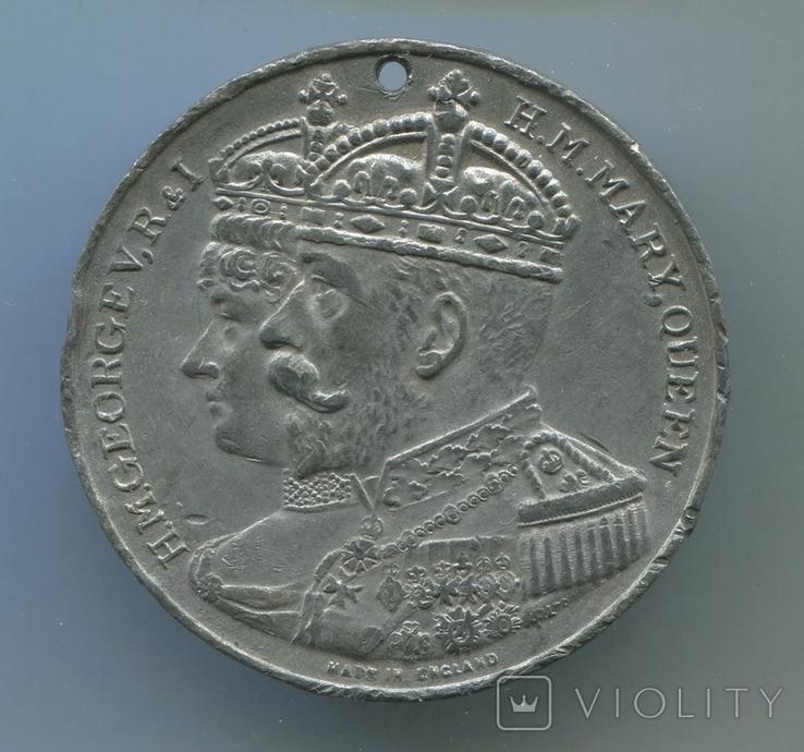 Британия. 1911. В память Коронации Короля Георга V и Королевы Мэри. д=35мм, фото №2