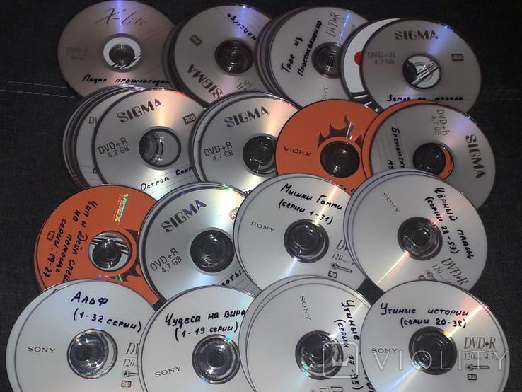 DVD диски с мультфильмами в формате DVD5. 75 штук, фото №4