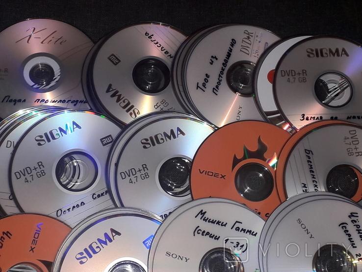 DVD диски с мультфильмами в формате DVD5. 75 штук, фото №5
