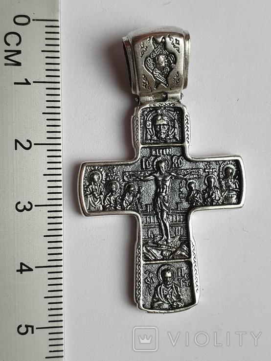 Крестик нательный. Серебро 925., фото №2
