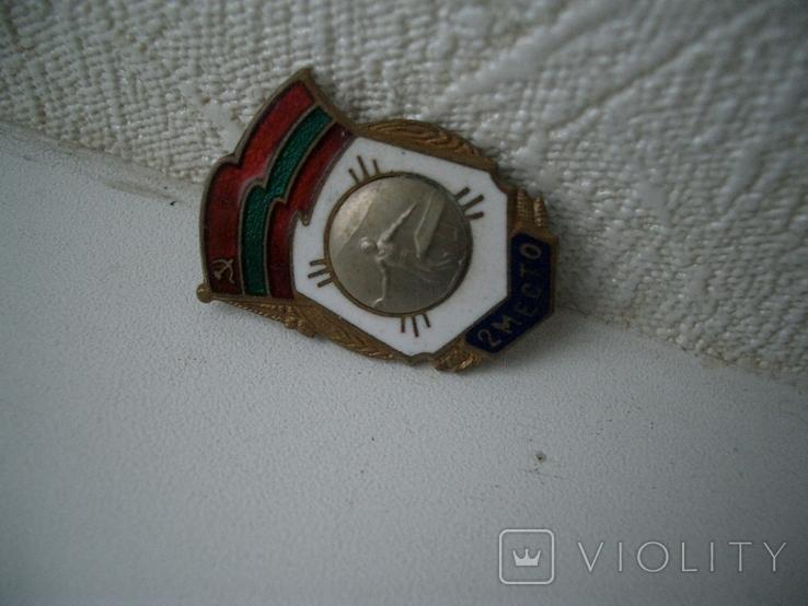 Знак Республ. соревн. 2-е место СССР,эмаль, фото №4