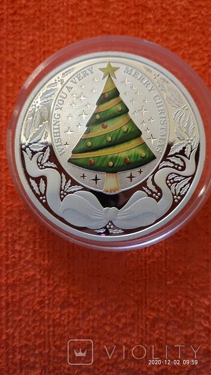 """1 доллар """"Рождество"""" 2008 Тувалу, фото №3"""