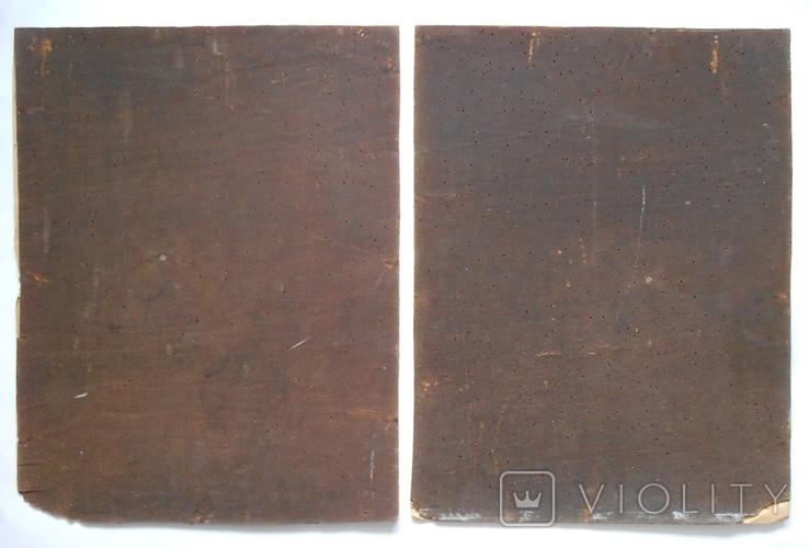 Икона, австрийская литография, 2 штуки, большие., фото №4