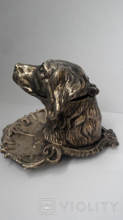 Пепельница Голова собаки. Бронза., фото №5