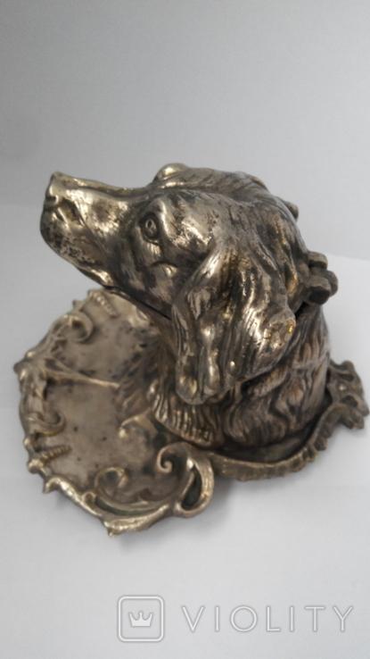 Пепельница Голова собаки. Бронза., фото №6