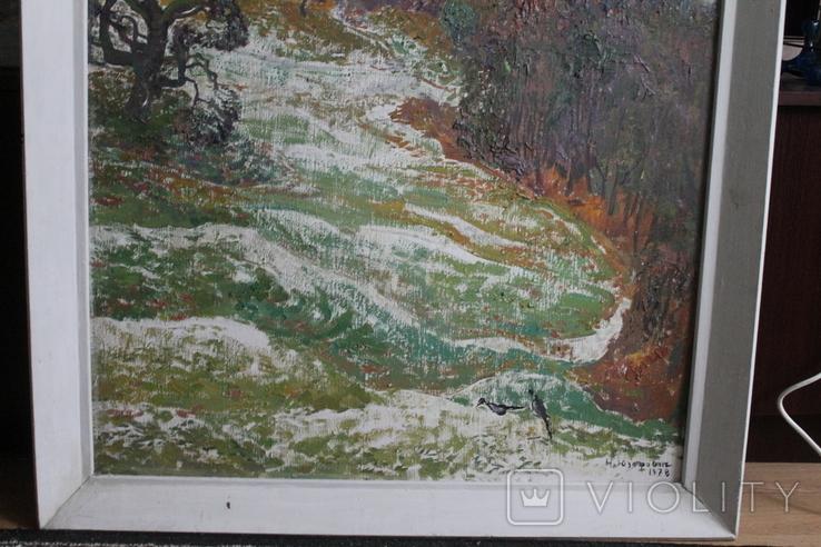 """Наталья Юзефович """"Перший сніг"""" 1978 г. 86/81 см., фото №4"""