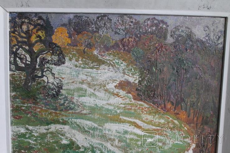 """Наталья Юзефович """"Перший сніг"""" 1978 г. 86/81 см., фото №7"""