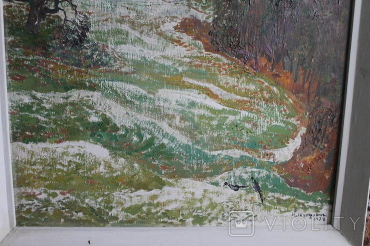 """Наталья Юзефович """"Перший сніг"""" 1978 г. 86/81 см., фото №8"""