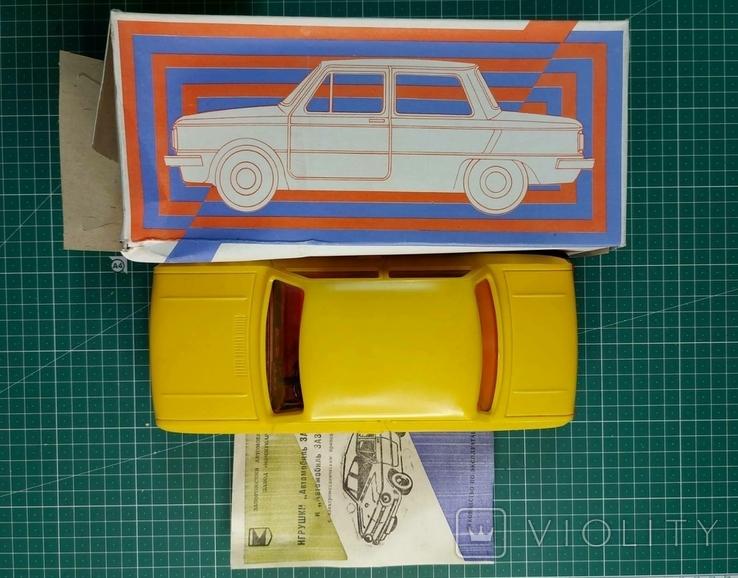 ЗАЗ-968, игрушка с электромеханическим приводом (желтый), пр-во СССР, 1995 г., фото №2