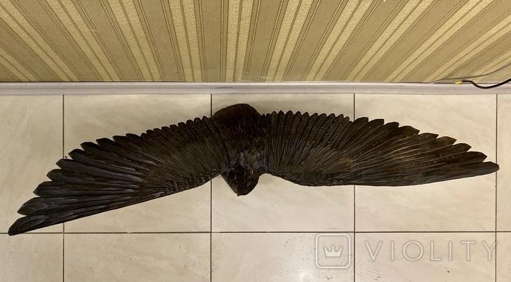 Фигура орла, выполнена из дерева, ручная работа. Размах крыльев 110см., фото №4