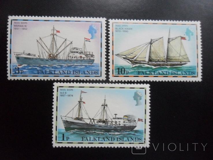 Корабли. Фолклендские острова.  MNH, фото №2