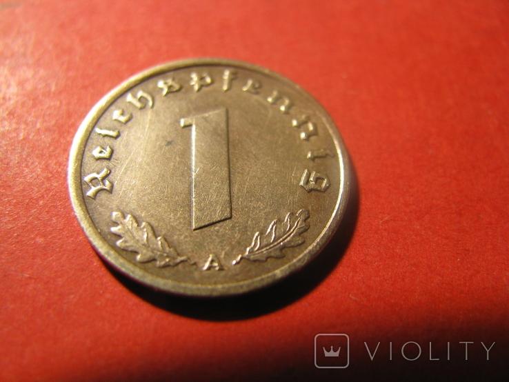 Німеччина  1 пфеніг 1939 ( А ), фото №3