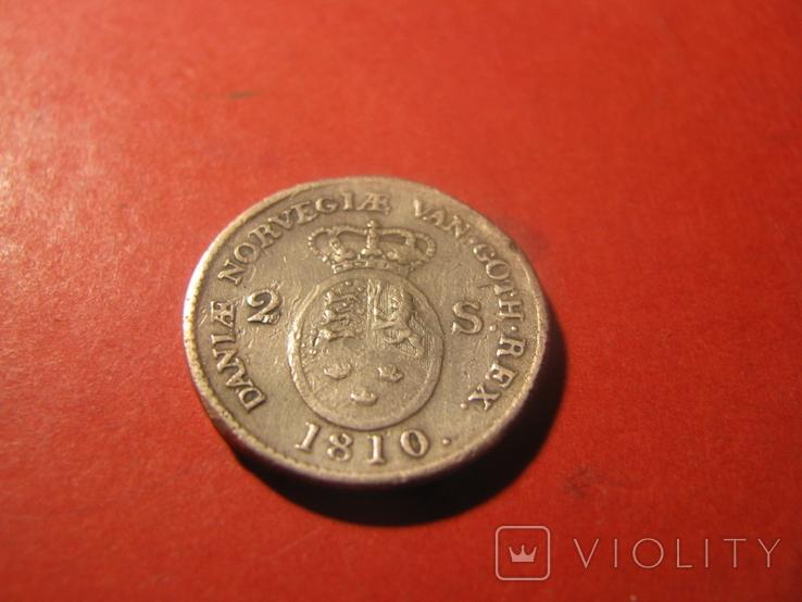 Данія  2 скілінга  1810, фото №3