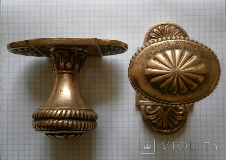 Ручка дверная бронза (2 шт), фото №13
