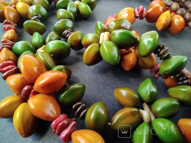 Буси з натурального насіння. Дві пари., фото №6