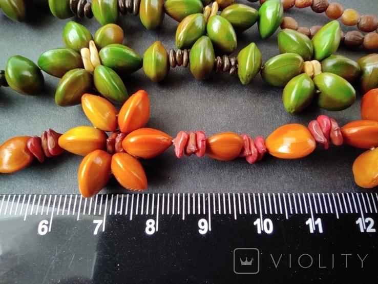 Буси з натурального насіння. Дві пари., фото №7