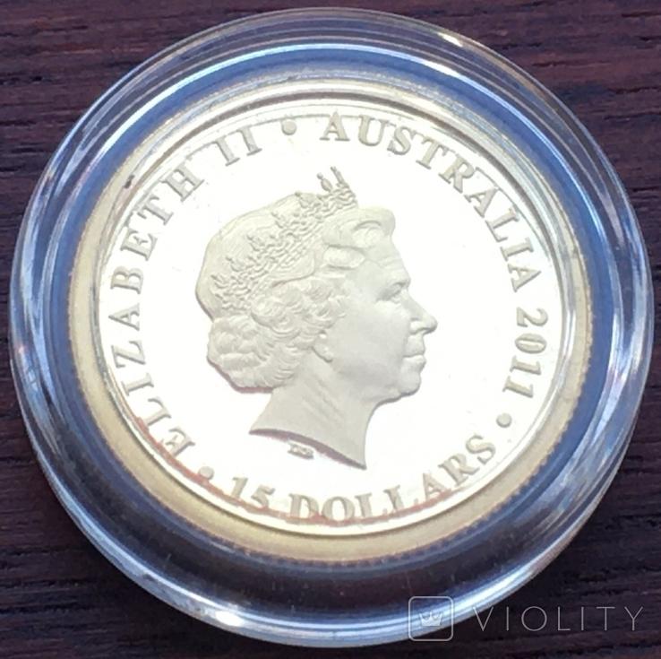 Австралія 15 доларів Коала 2011 рік Золото 3,11 грам 999,9' проби, фото №4
