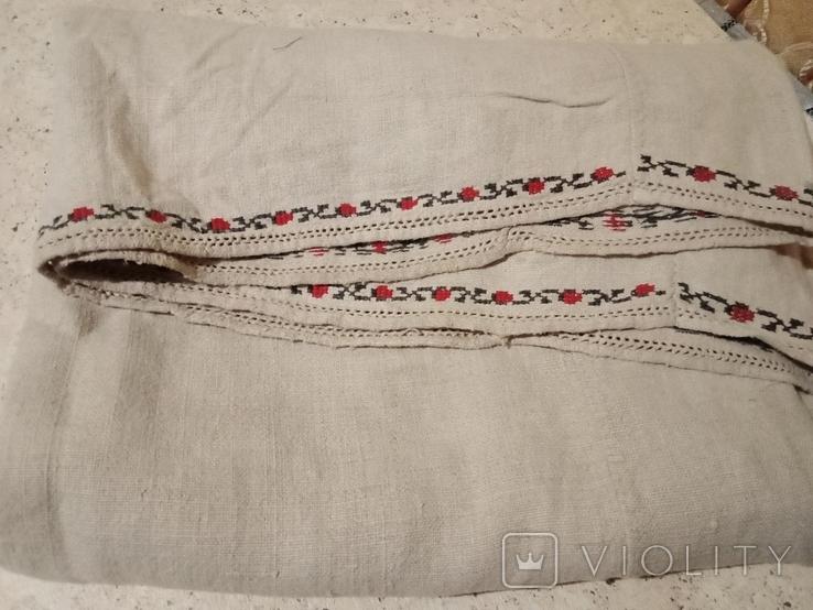 Старая домотканая большого размера сорочка., фото №4