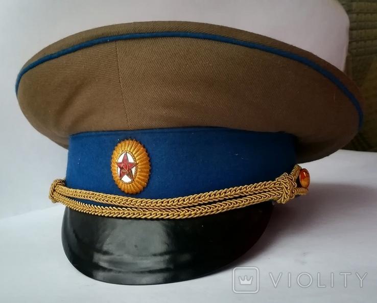 Парадная фуражка КГБ с латунной кокардой 55 размер, фото №2