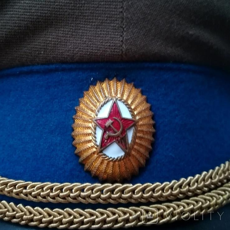 Парадная фуражка КГБ с латунной кокардой 55 размер, фото №3