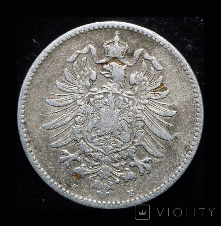 Германия 1 марка 1883 Е редкий год-двор, фото №3