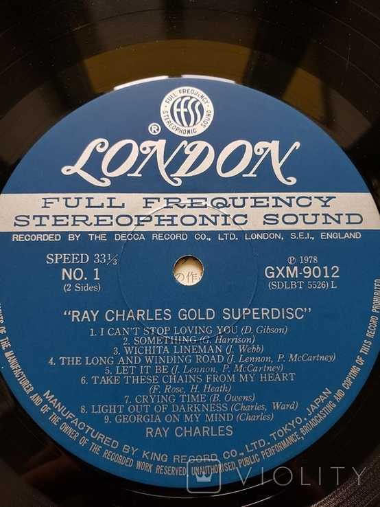 "Vinyl.  Blues, Pop, Folk. ""Ray Charles ‎– Gold Superdisc"", фото №6"
