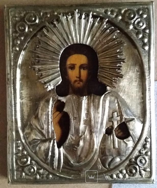 Ікона Ісус, латунь, 18,0х15,0 см, фото №4