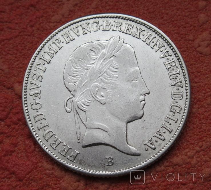 20 крейцеров 1845 г. Венгрия, серебро, фото №8