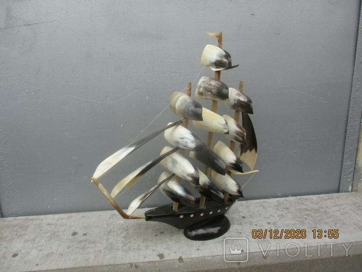 Парусник из рога (690гр.), фото №4