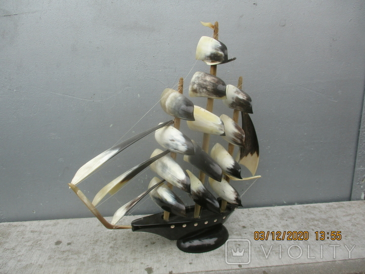 Парусник из рога (690гр.), фото №5