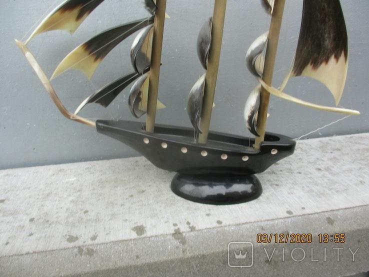 Парусник из рога (690гр.), фото №10