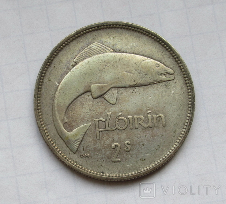 1 флорин 1931 г. Ирландия, серебро, фото №3