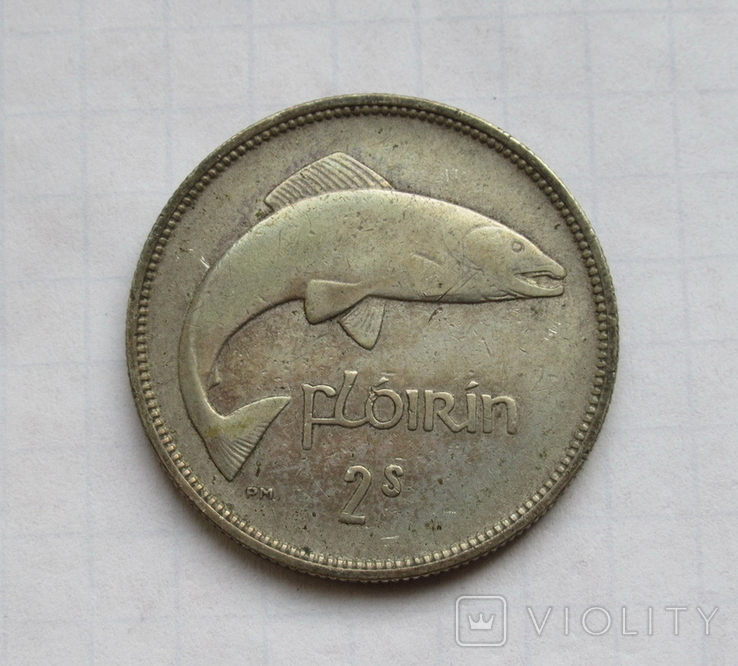 1 флорин 1931 г. Ирландия, серебро, фото №5