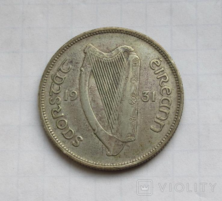 1 флорин 1931 г. Ирландия, серебро, фото №7