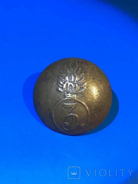 Пуговица 3-го гренадерского полка царской армии, фото №2