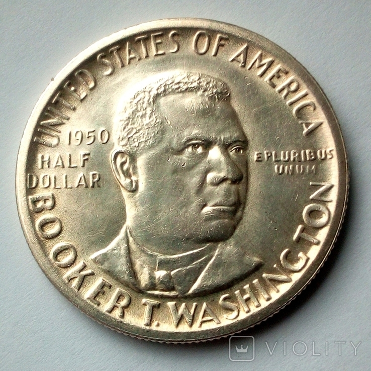 США 1/2 , пол доллара 1950 г. - Букер Т. Вашингтон