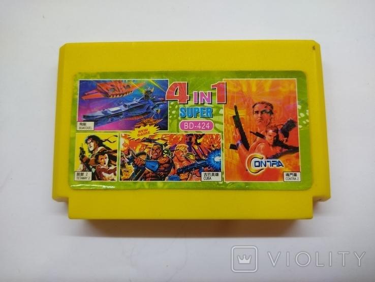 Картридж к игровой приставке 4 in 1 Super BD-424, фото №2
