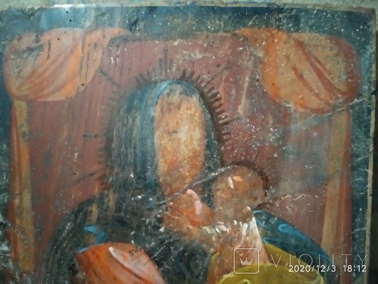 Икона Богородицы 19 век, фото №3