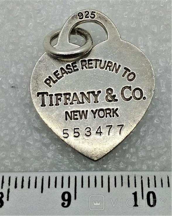 Кулон Подвеска Tiffany & Co New York Серебро 925, фото №2