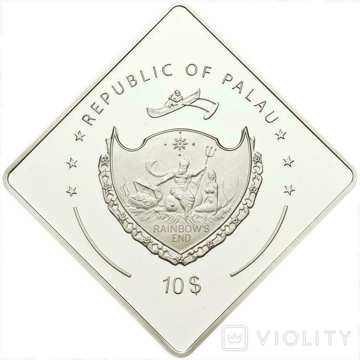 Палау Линкор Гранд Крузер HMAS Австралия 10 долларов 2011. 2 унции серебра(62.2г), фото №5
