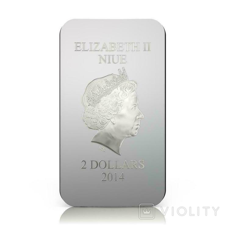 Ниуэ 2014 Православные святыни 2 $ - Феодоровская Богородица Серебряная монета 1 унция, фото №4