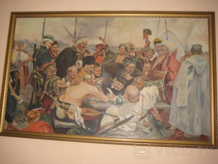 """Копія картини Репіна """"Козаки пишуть лист султанові"""", фото №2"""