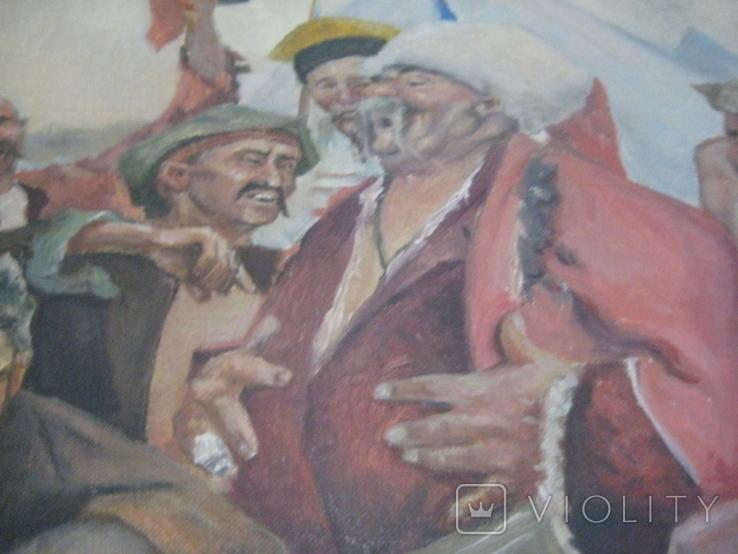 """Копія картини Репіна """"Козаки пишуть лист султанові"""", фото №7"""