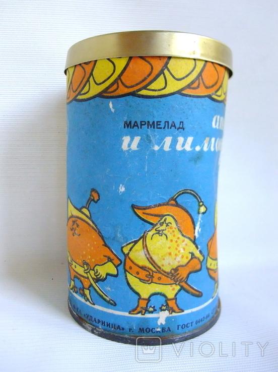 Коробочка от мармелада Апельсиновые лимонные дольки. СССР - гост 1969г., фото №2