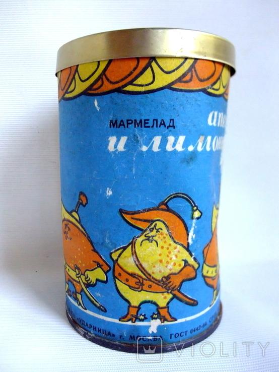 Коробочка от мармелада Апельсиновые лимонные дольки. СССР - гост 1969г., фото №8